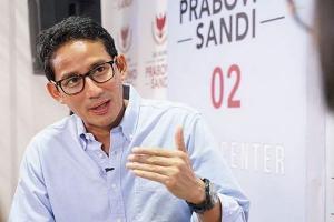 La Nyalla Sebut Prabowo Kalah di Madura, Sandi Angkat Bicara