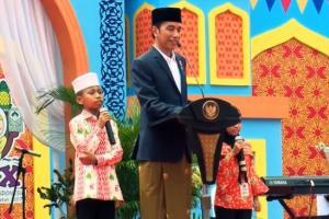 Kuis Tanpa Sepeda Jokowi Bikin Santri Tengak-Tengok