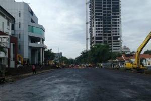 Mulus Lagi, Jalan Raya Gubeng Masih Belum Diuji Coba