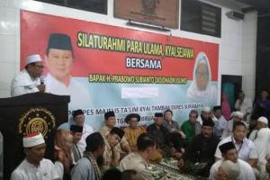 Jamaah Thoriqoh Syatoriyah Diinstruksikan Dukung Prabowo