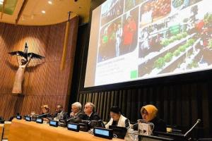 Risma Jadi Pembicara di Markas Besar PBB