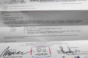 Beredar Surat Tim Jokowi Minta Bantuan ke BUMN