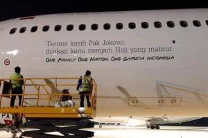 Garuda Jelaskan soal  'Terima Kasih Pak Jokowi'