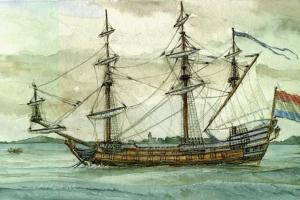 Perahu Diduga  Peninggalan Zaman Belanda Muncul di Bengawan Solo