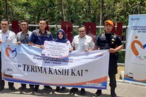 Pokdarwis Kali Maron Dapat Bantuan Perahu Wisata Dari PT KAI Madiun.