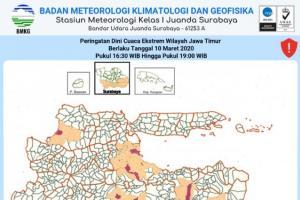 Hujan Lebat Diprediksi Mengguyur Sejumlah Wilayah di Jatim