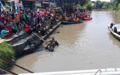 Seluruh Korban Tenggelam di Sungai Pucang Ditemukan Meninggal Dunia