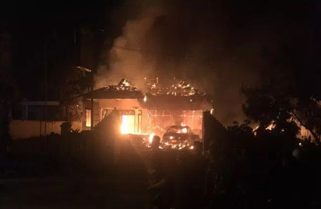 Polsek Tambelangan Dibakar terkait Aksi 22 Mei Jakarta?