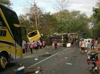 Kronologi Kecelakaan Beruntun di Baluran Situbondo