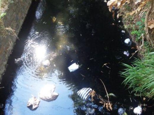 Pembalut dan Popok  Ditemukan di 'Sungai Hitam' Ponorogo