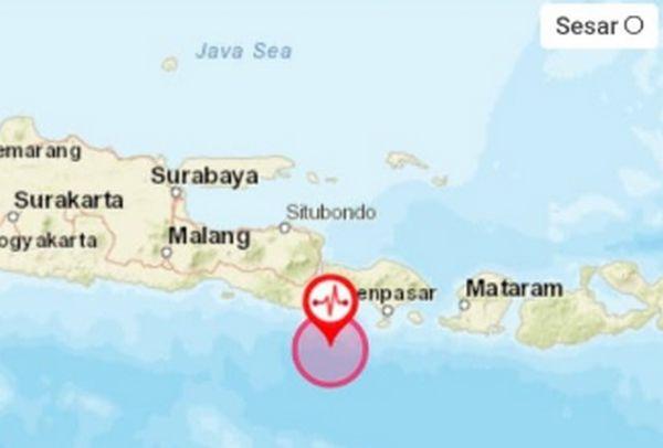 Gempa 4,9 M Guncang Bali, Terasa hingga Banyuwangi